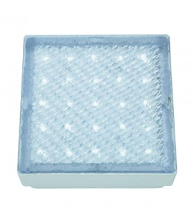 LED Indoor And Outdoor Large Square White Walkover Light - Searchlight 9913WH