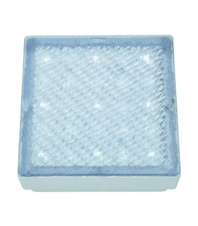 LED Small Square Outdoor Walkover Ground Light White IP68