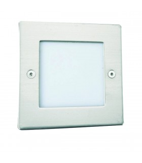 LED Indoor And Outdoor White And Stainless Steel Square Walkover Light - Searchlight 9907WH