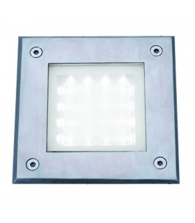 LED Indoor And Outdoor Stainless Steel And Glass Square Walkover Light