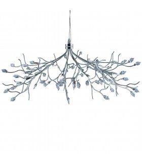 Willow Chrome And Crystal Pendant - Searchlight 8110-10CC