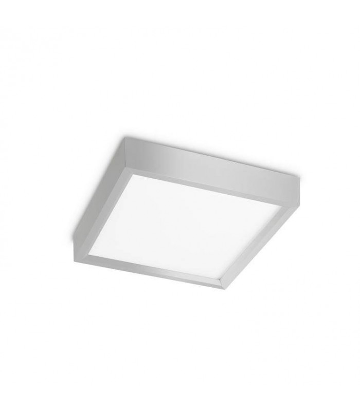 Net Small Square Metallic Grey Standard LED Ceiling Light - GROK 15-3535-CH-M1