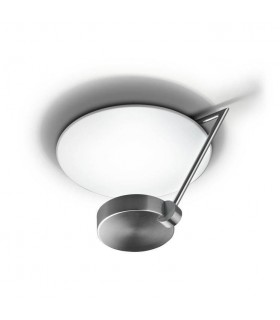 LED 1 Light Dimmable Medium Semi Flush Ceiling Light Satin Nickel