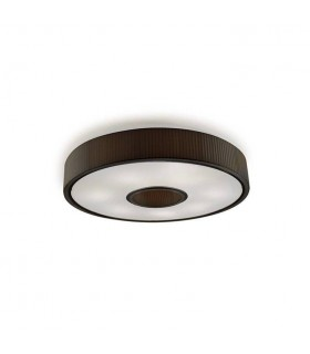 Spin Small Chrome Flush Fitting With Black Fabric Shade - GROK 15-4601-21-05