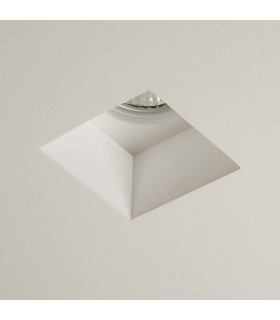 1 Light Square Recessed Downlight Plaster, GU10