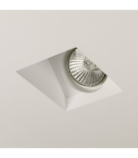 1 Light Recessed Ceiling Spotlight Plaster, GU10