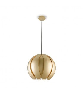 1 Light Adjustable Ceiling Pendant Gold