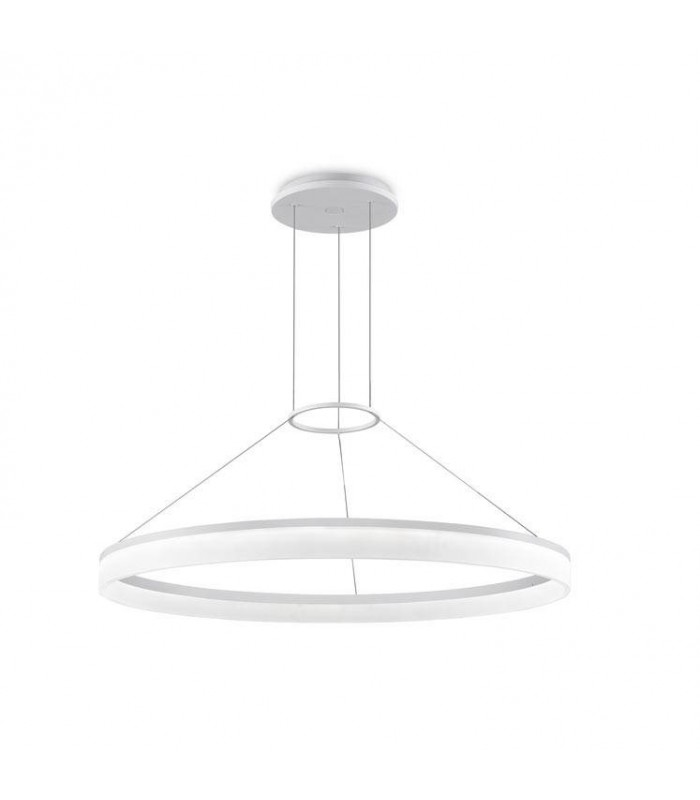 Circ White Large One-Tiered LED Dimmable Ring Pendant - GROK 00-3646-BW-M3