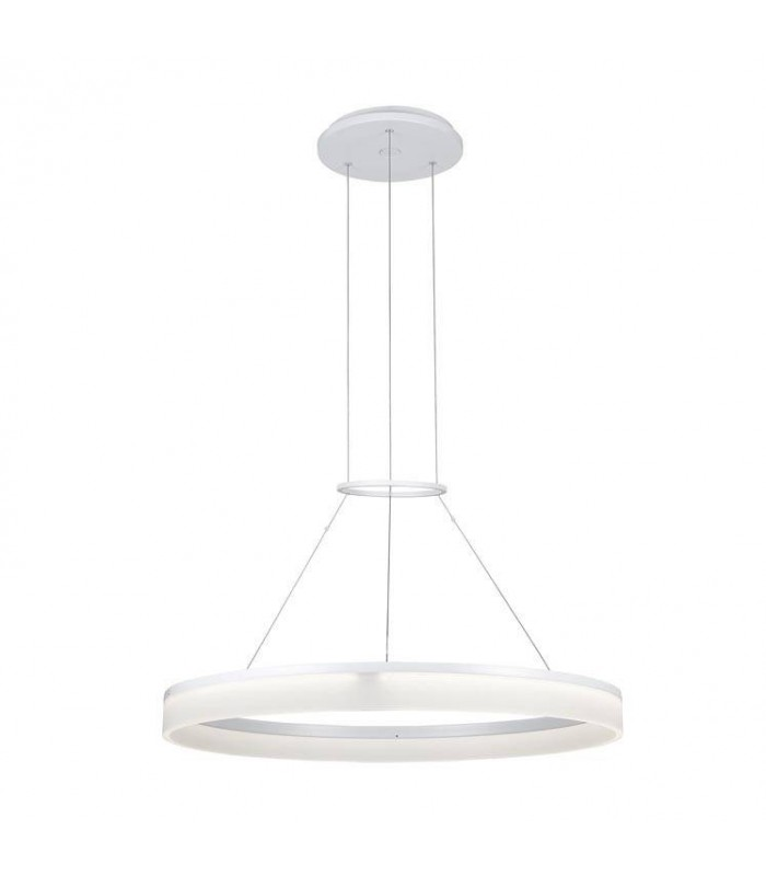 Circ White Medium One-Tiered LED Dimmable Ring Pendant - GROK 00-0642-BW-M3