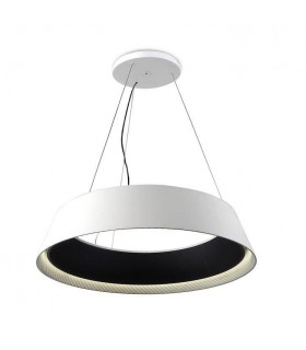 LED 1 Light Large Ceiling Pendant White, Black