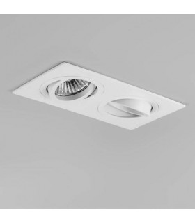 2 Light Twin Adjustable Recessed Spotlight Matt White