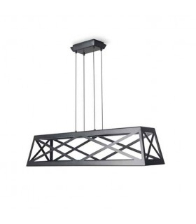 LED Ceiling Pendant Light Black - Rectangle Frame