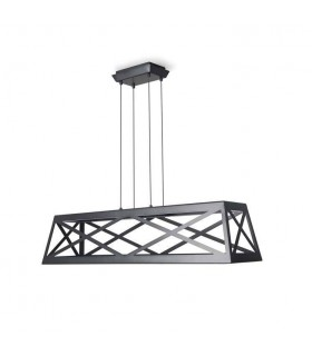 LED Dimmable Ceiling Pendant Light Black - Rectangle Frame