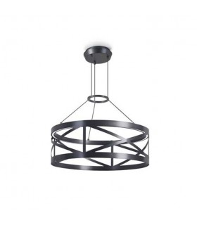 LED Round Ceiling Pendant Light Black