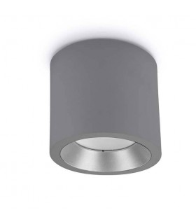 LED Large Outdoor Surface Mounted Spotlight Grey IP65