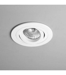 1 Light Round Adjustable Recessed Ceiling Downlight White