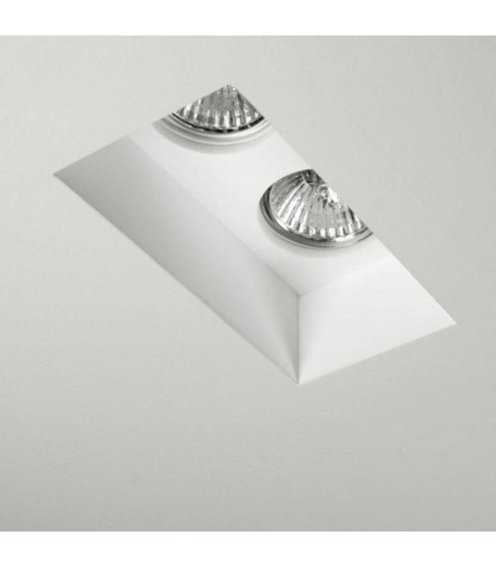 Blanco Plaster Twin Recessed Ceiling Spotlight - Astro Lighting 5654