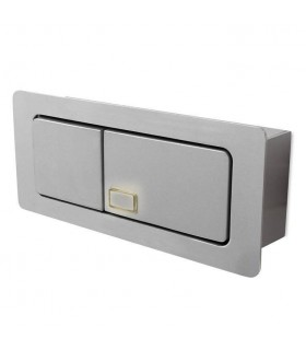 Adjustable LED 1 Light Indoor Recessed Wall Light Grey