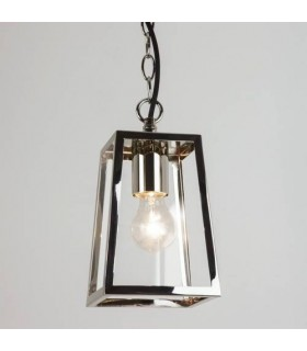 1 Light Outdoor Ceiling Pendant Light Polished Nickel