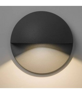 LED Outdoor Wall Light Black IP65