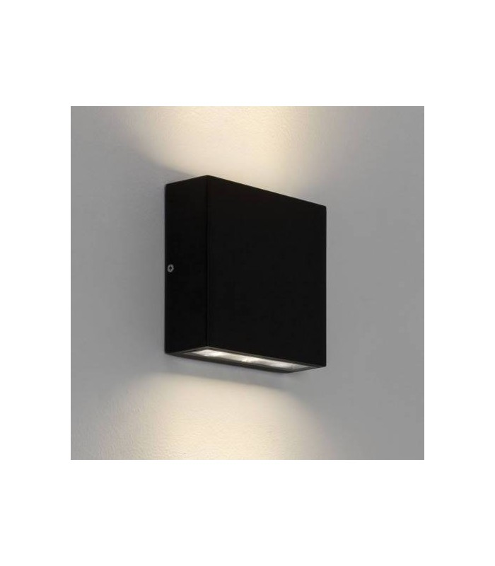LED Outdoor Up Down Wall Light Black IP54