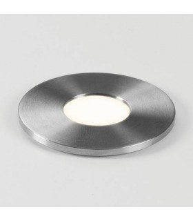 LED 1 Light Round Outdoor Ground Light Stainless Steel IP65