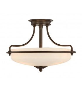 3 Light Semi Flush Ceiling Light Palladian Bronze