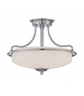 3 Light Semi Flush Ceiling Light Polished Chrome