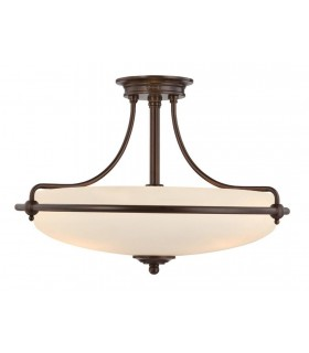 4 Light Semi Flush Ceiling Light Palladian Bronze