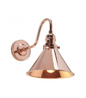 1 Light Indoor Wall Lamp Polished Copper, E27