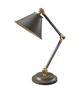 1 Light Table Lamp Grey, Aged Brass, E27