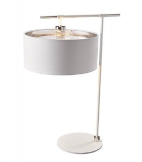 1 Light Table Lamp White, Polished Nickel, E27