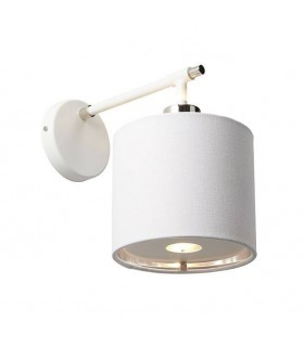 1 Light Indoor Wall Light Polished White, Nickel