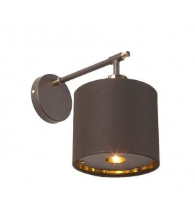 1 Light Indoor Wall Light Brown, Polished Brass