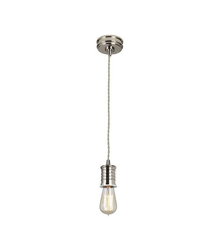 Douille Polished Nickel Lamp Holder Pendant - Elstead Lighting DOUILLE/P PN