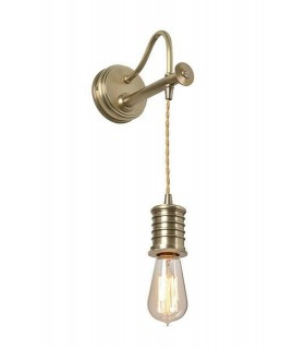 1 Light Indoor Wall Light Antique Brass, E27