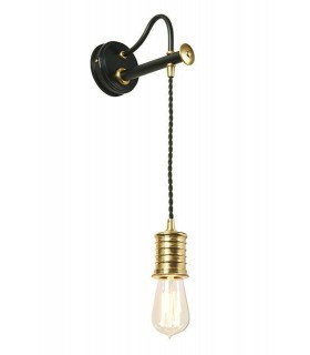 1 Light Indoor Wall Light Black, Polished Brass, E27