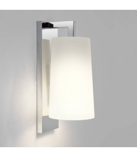 1 Light Bathroom Wall Light Polished Chrome with Shade IP44, E27