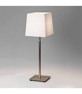1 Light Table Lamp Matt Nickel - Shade Not Included, E27