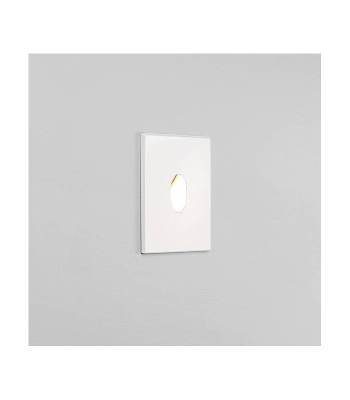 LED 1 Light Outdoor Recessed Marker Wall Light White IP65