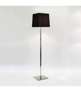 1 Light Floor Lamp Polished Nickel - Shade Not Included, E27