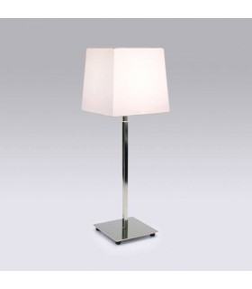 1 Light Table Lamp Polished Nickel - Shade Not Included, E27