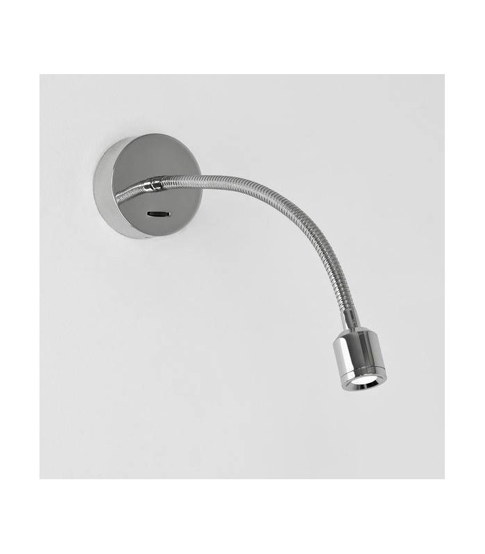 LED 1 Light Indoor Wall Reading Switched Light Polished Chrome