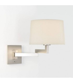 Swing Arm 1 Light Indoor Wall Light Matt Nickel - Shade Not Included, E27