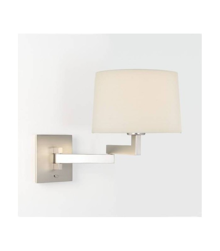 Momo Matt Nickel Swing-Arm Wall Light - Shade Not Included - Astro Lighting 0751