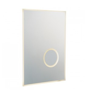 Bathroom Integrated LED Wall Mirrored Glass & Metallic Silver Effect Paint 1 Light IP44