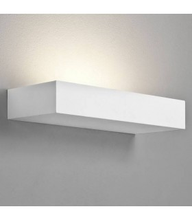1 Light Indoor Wall Uplighter White, Plaster, E14