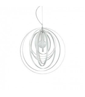 1 Light Spherical Cage Ceiling Pendant White