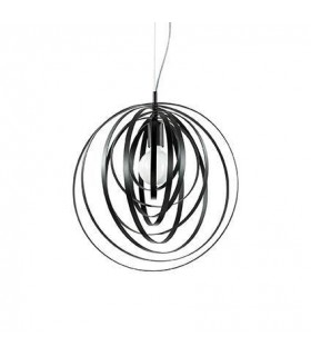 1 Light Spherical Cage Ceiling Pendant Black