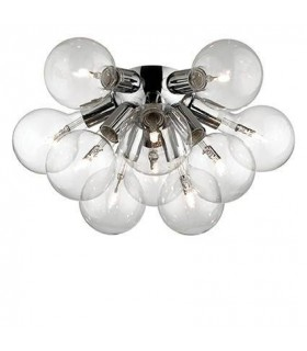10 Light Indoor Flush Light Chrome, E27